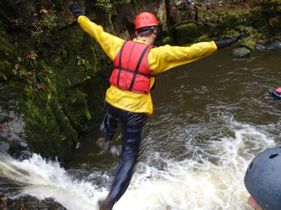 Gorge Walking Wales: Amazing jumps of up to 26 feet into deep waterfall pools.