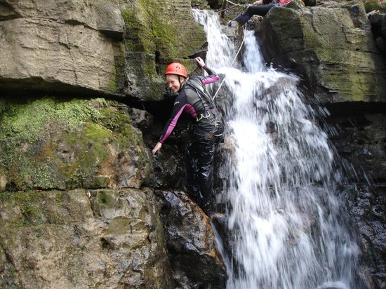 Gorge Walking Wales: Nearly at the top of a really exciting climb.