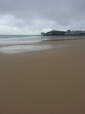 The Imperial Tenby Hotel: Tenby Beach with tide out