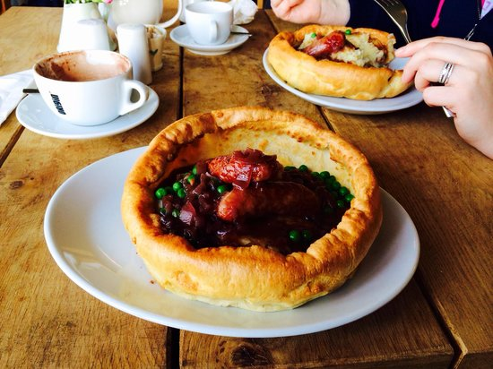 Boscastle Farm Shop : One of today's specials - toad in the hole - amazing!!