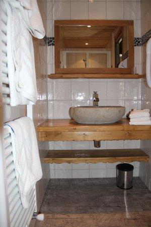 Hotel l'Ours Blanc: salle de bain