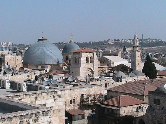 Petra Hotel & Hostel: Вид на Иерусалим с крыши отеля