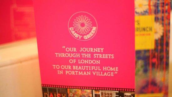 Daisy Green of Portman Village : Menu