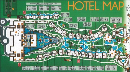 Hotel Map Picture Of Grand Riviera Princess All Suites