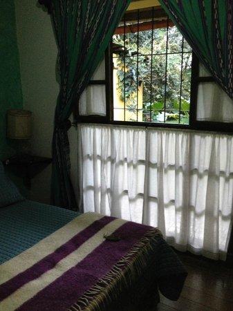 Hotel La Posada: barred window onto a garden