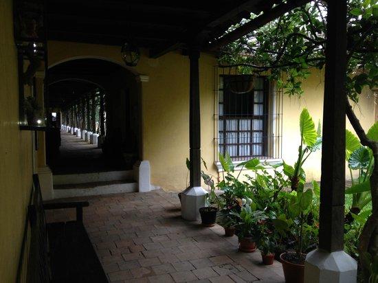 Hotel La Posada: walk way shelter from sun or rain