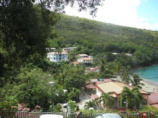 Sable D'or : vue sur village anse Dufour