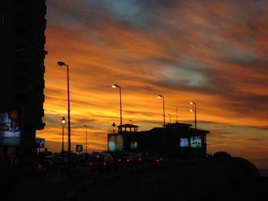 Beautiful sunset on the Corniche