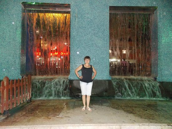 Aqaba Gulf Hotel: Необычный фонтан недалеко от отеля