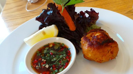 Water of Leith Cafe Bistro: crab and prawn cake