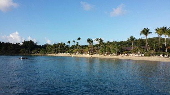 Main beach area of Caneel Bay Resort