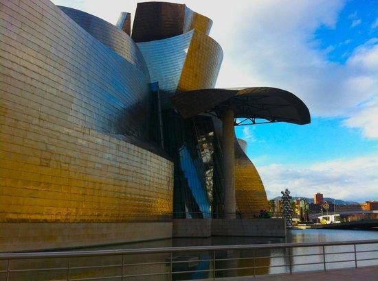 Guggenheim-Museum Bilbao: Guggenheim Bilboa - view from the River