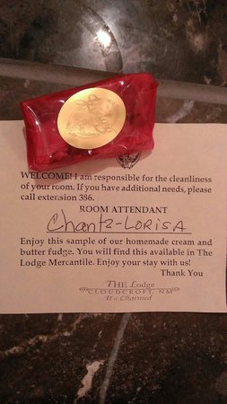 The Lodge Resort and Spa: Nice welcome touch.