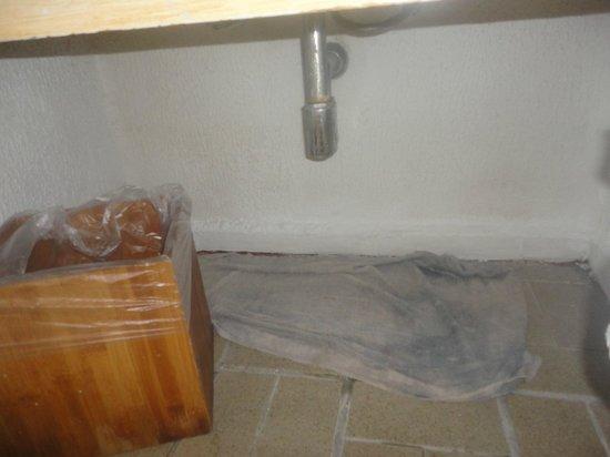 Ocean Spa Hotel: pano de chão embaixo da pia do meu quarto.... 7 dias o mesmo pano
