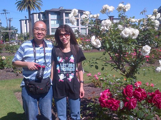 Parnell Rose Gardens: Together with my wife