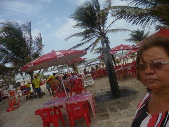 Cabana do Sol : restaurante vista para essa praia
