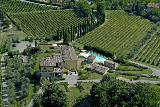 Guardastelle from the sky, our vineyards, pool.....