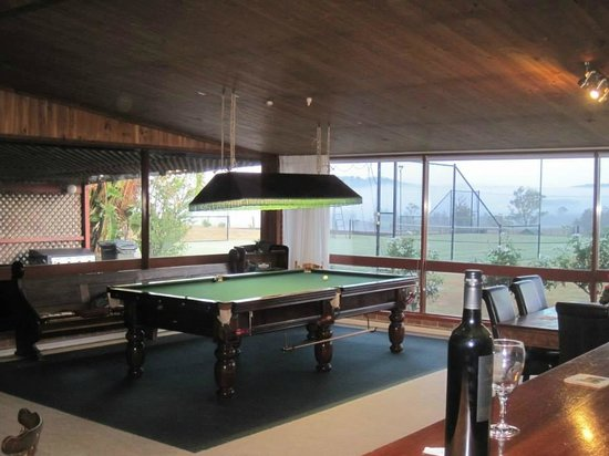 Bluebush Estate: Snooker table in The Lodge