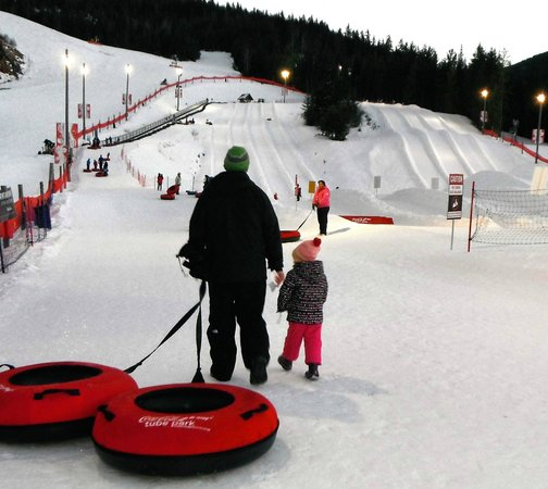 Whistler Blackcomb's Coca-Cola Tube Park: From the bottom of the hill
