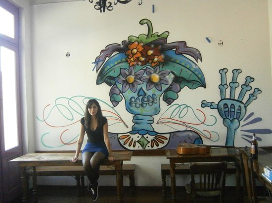 Rock Hostel & Brewery: Yo con la catrina para no extrañar tanto a nuestro México