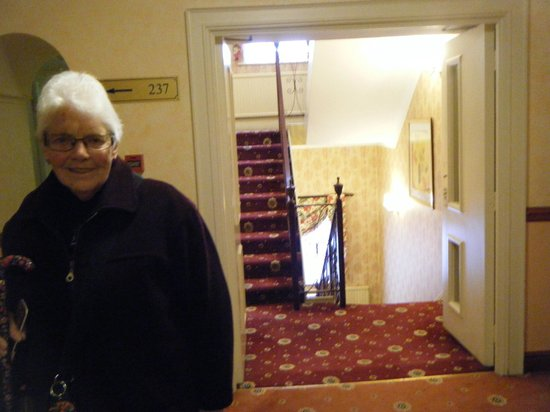 Chatsworth Hotel : 2nd Floor landing. No you can't stay - the cats will worry.