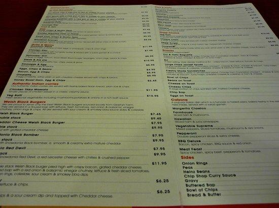 Spinnaker: The extensive menu