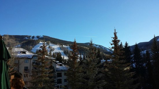 The Charter at Beaver Creek: The view from the bar balconing area