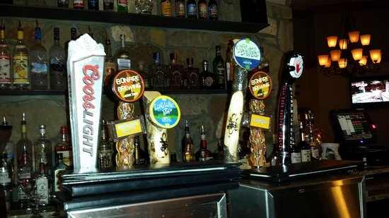 The Charter at Beaver Creek: Some of the many amazing beer taps in the bar