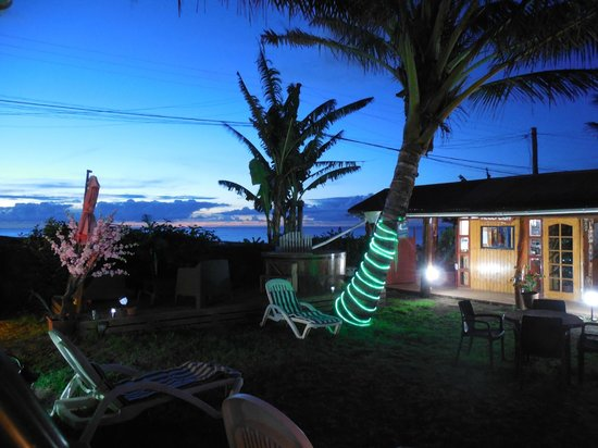 Mataveri Inn: View from the room at night