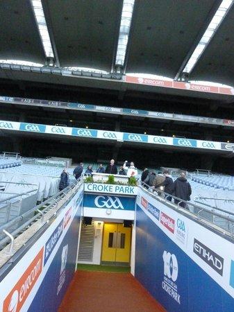 Croke Park Stadium Tour & GAA Museum: scalinata del palco premiazione