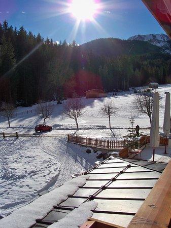 Alpengasthof Lammerhof: Blick aus der Suite2 (Sonne nicht immer garantiert :) )