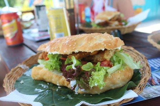 The Mooring: FOB mahi mahi sandwich