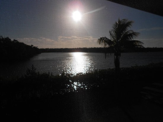 River Wilderness Waterfront Villas, Everglades: view from our screened porch