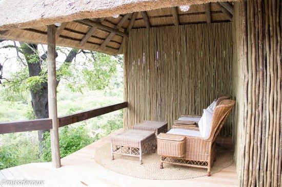 Londolozi Private Game Reserve : private deck