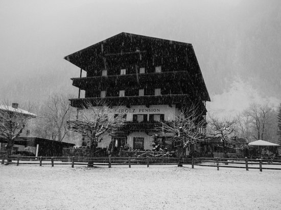 Hotel Pension Strolz: With Fresh snow falling