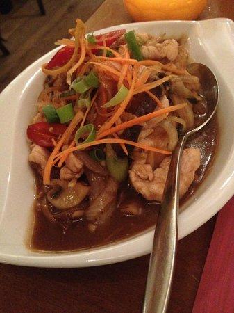 Billy Thai's Restaurant: Poulet au gingembre légèrement épicé