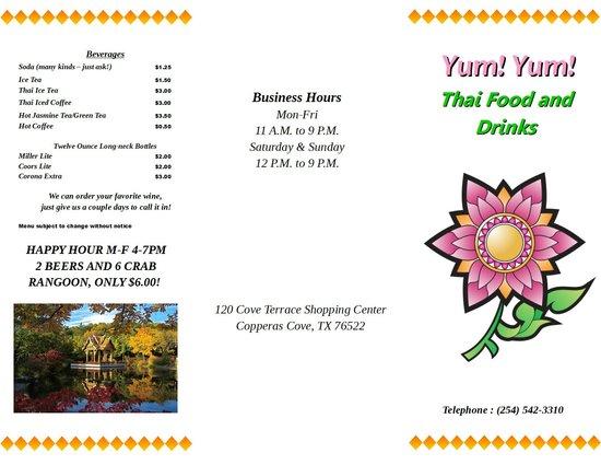 Yum Yum Thai Food And Drinks Copperas Cove Tx
