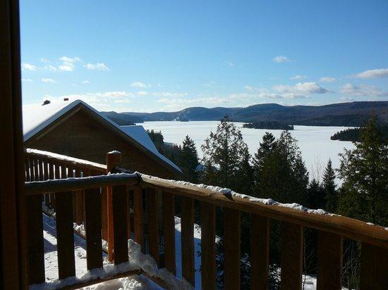 Hotel Sacacomie: Vue du Lac Sacacomie de la chambre