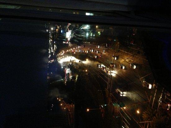 Acacia Hotel Manila: view from the room at night