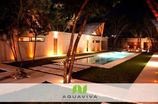 AQUA VIVA Tulum : pool at night