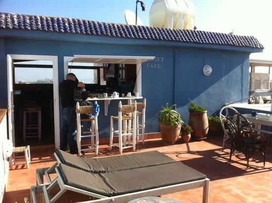 Riad Al Zahia: la terracita para desayunar! siempre muy buen clima
