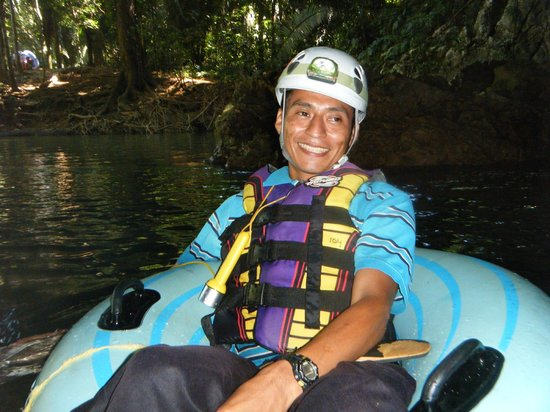 Cave Tubing with Vitalino Reyes: One of our awesome mayan guides