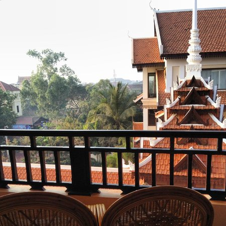 Saem Siemreap Hotel: View from the Family room on the 4th floor
