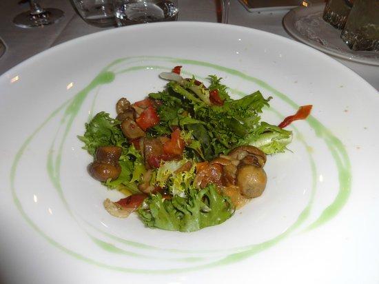 Sebastian: salada de entrada
