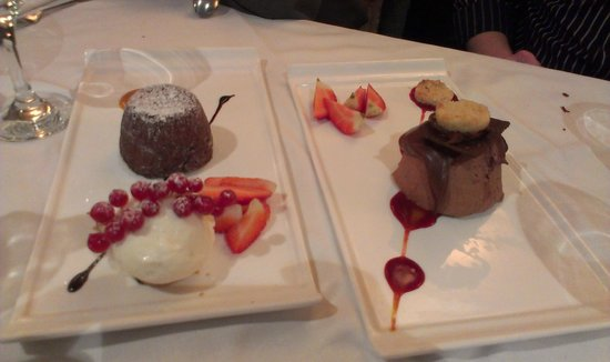 Reubens: Chocolate mousse and soya ice cream