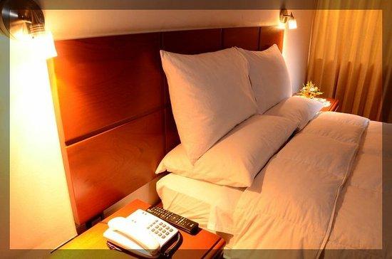 Hotel Golden Inca: Habitación, luces de lectura