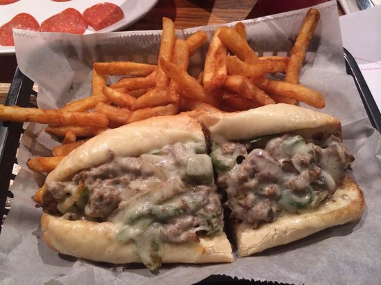 Main Street Italian  Grill: Steak and cheese with mushrooms.