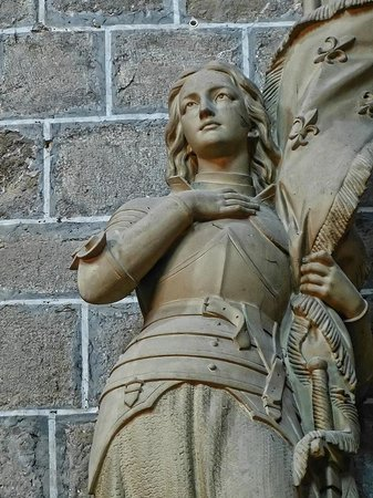 Abbaye de Saint Hilaire: A sculpture of Joan of Arc in the Abbey Church at Saint Hilaire
