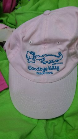 Gator Park: cute hat in the gift shop, but $16 on clearance is too much
