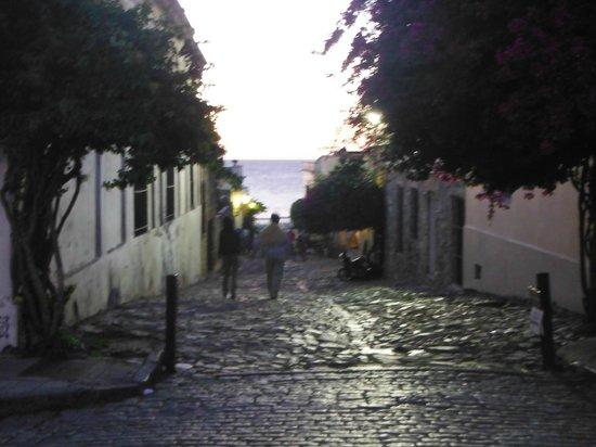 Pulperia de los Faroles: Vista desde las mesas exteriores del restaurante